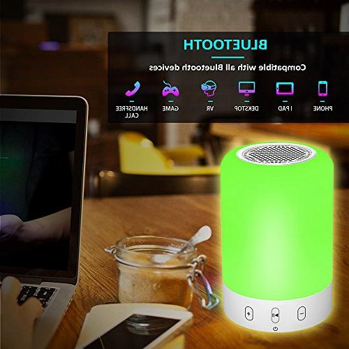 Bluetooth Hi-Fi Wireless Speaker Touch LED Themes,Best Gift Women and Children
