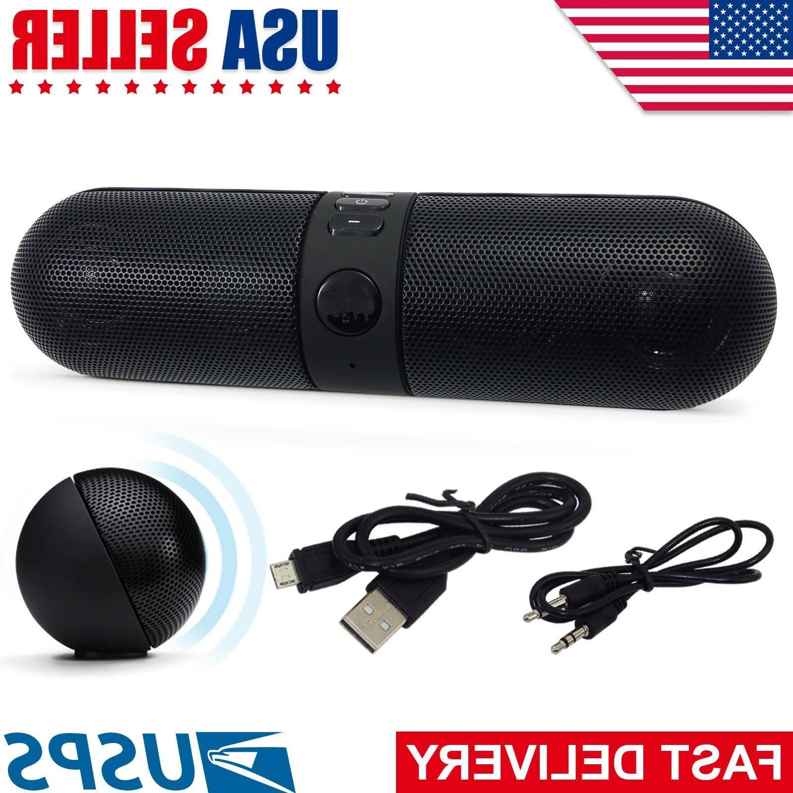Bluetooth Wireless Bass Aux USB Mp3 Portable Stereo Mini Spe