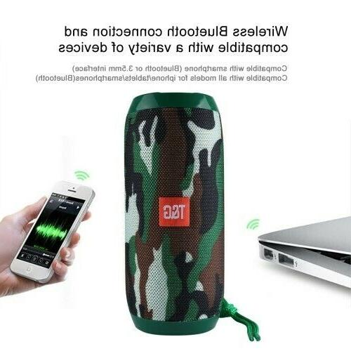 Bluetooth Speaker Waterproof Outdoor Stereo Bass USB/TF/FM Radio