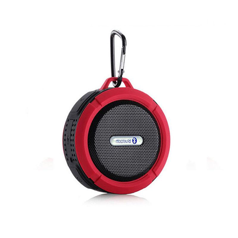C6 Wireless Bluetooth Built-in Mic Clip Suction Cup