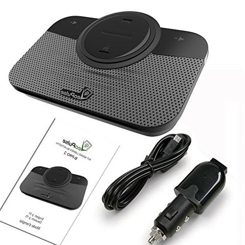 VeoPulse Car Speakerphone 2B with Cellphone Safe Hands-Free and Driving Compatible and