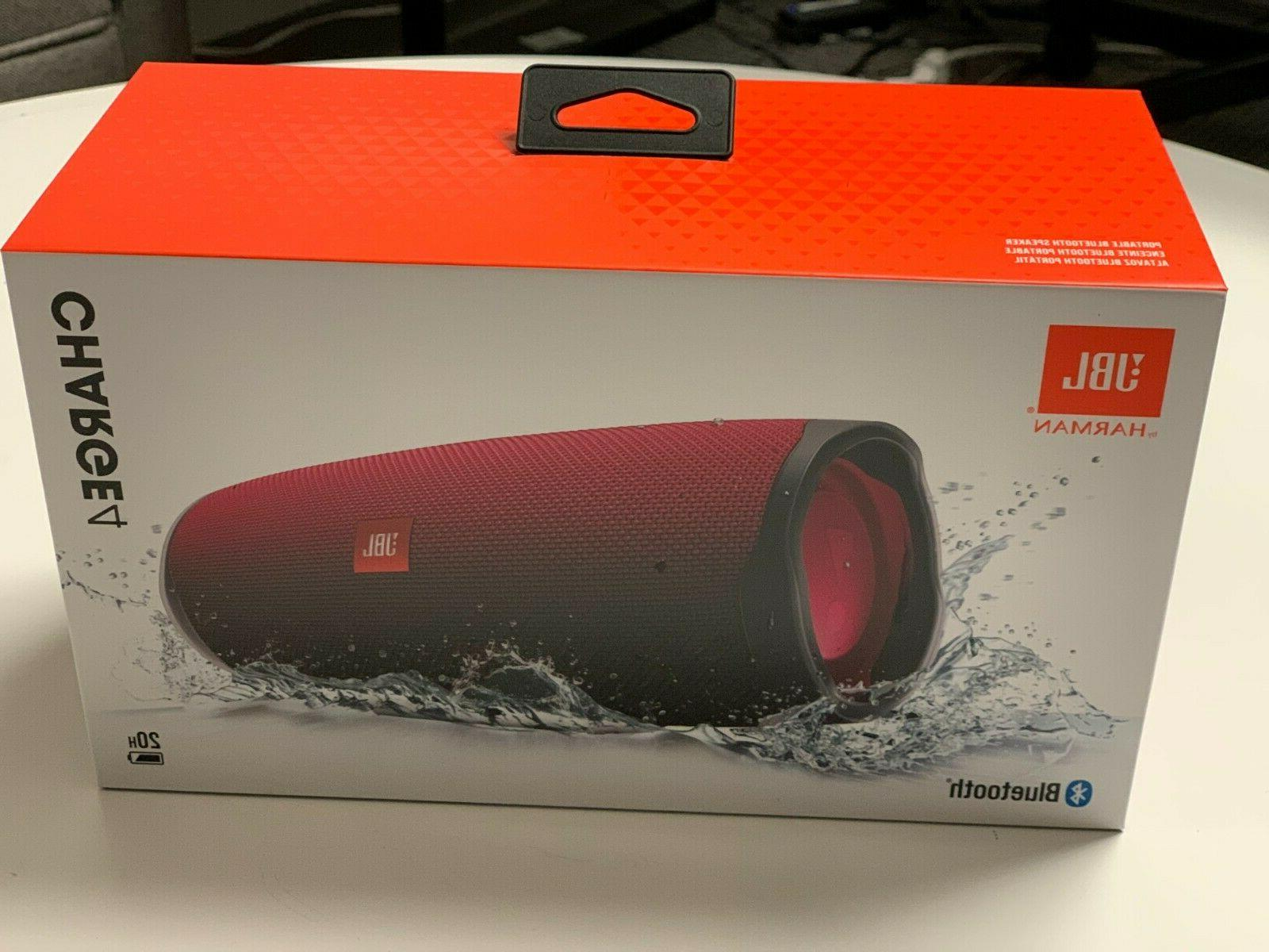 charge 4 bluetooth portable speaker system magenta