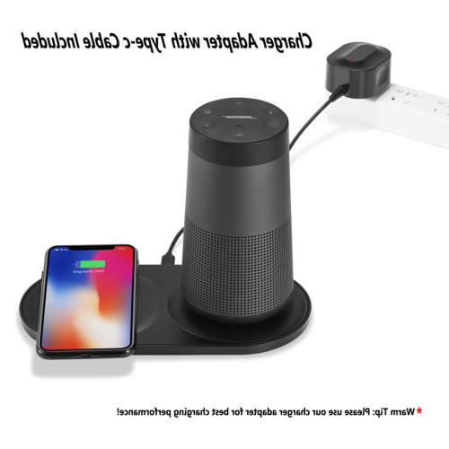 Dual Charging Dock +Wireless Charger For iphone X 8 8Plus /S