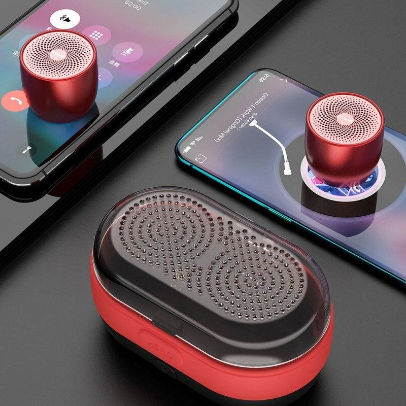 Fashion Dual Bluetooth <font><b>Speakers</b></font> With Small Stereo Soundbox <font><b>Speakers</b></font>