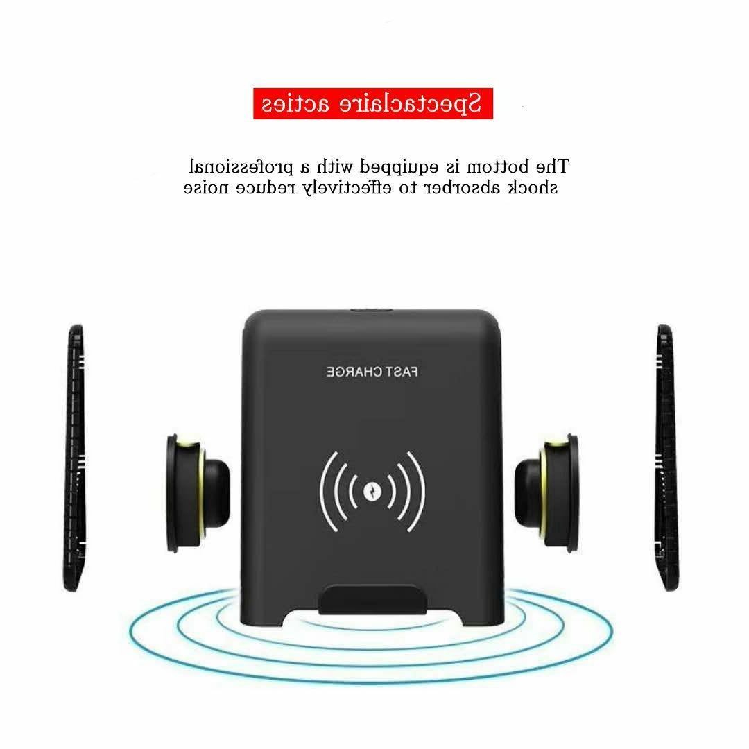 Fast Wireless Charger with Bluetooth Speaker For Samsung Gal