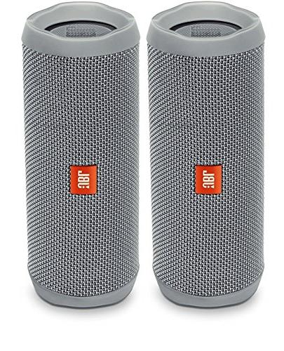 JBL Flip 4 Waterproof Portable Bluetooth Speaker, Blue, Bund
