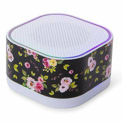 floral wireless bluetooth speaker hd sound compact