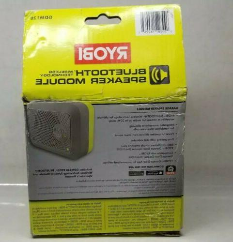 Ryobi GDM120 Bluetooth Wireless Speaker Garage Door Opener M
