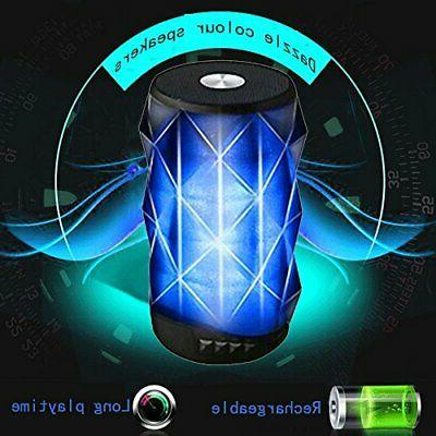 LED Bluetooth Speaker,BOOMER Wireless Mini Speaker with