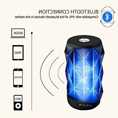 LED Bluetooth Speaker,BOOMER VIVI Wireless Portable Speaker with