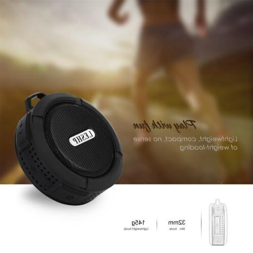 LESHP C6 Wireless Bluetooth Speaker With Calls and Suction