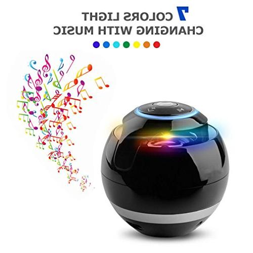 Magic Bluetooth Subwoofer Round Speaker Portable For Hands-Free Speakers iPhone 6/6s/6s Plus