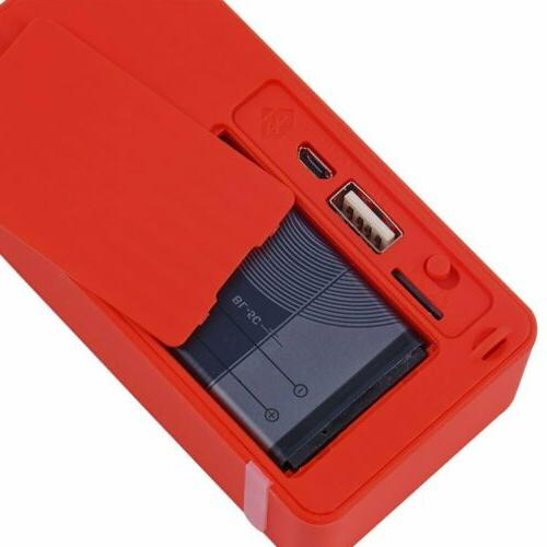 Red Portable Speaker FM For iphone