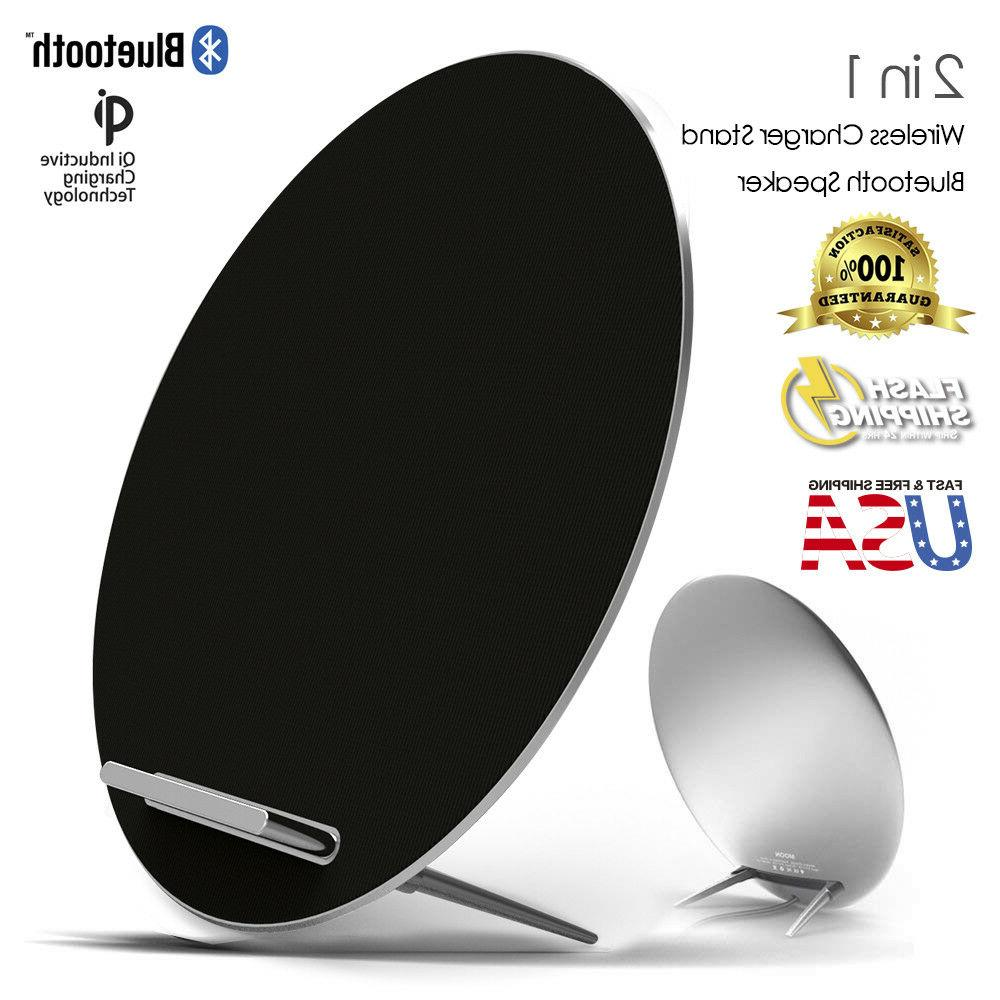 Moon Sonata Aluminum Qi Fast wireless charger stand Built-in