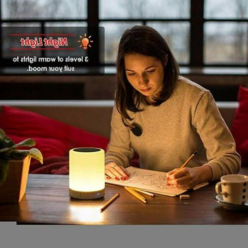 Night Light Bluetooth Portable Speakers Control & Lights