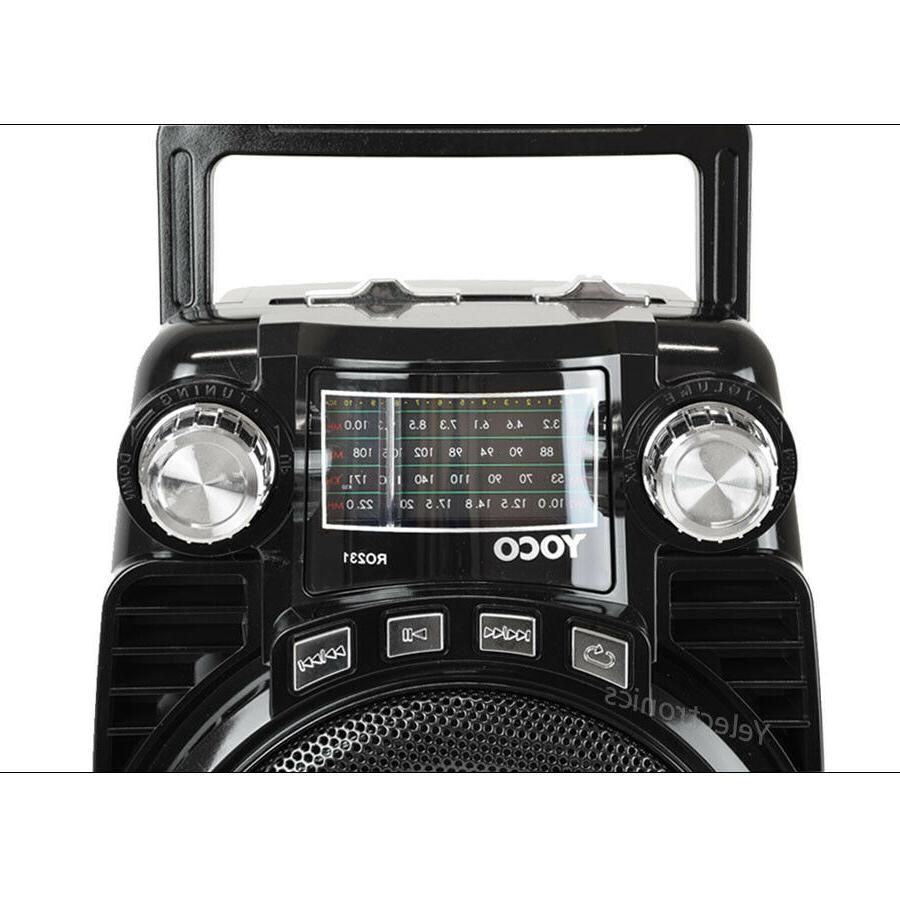 Portable Radio Speaker Wireless Stereo USB