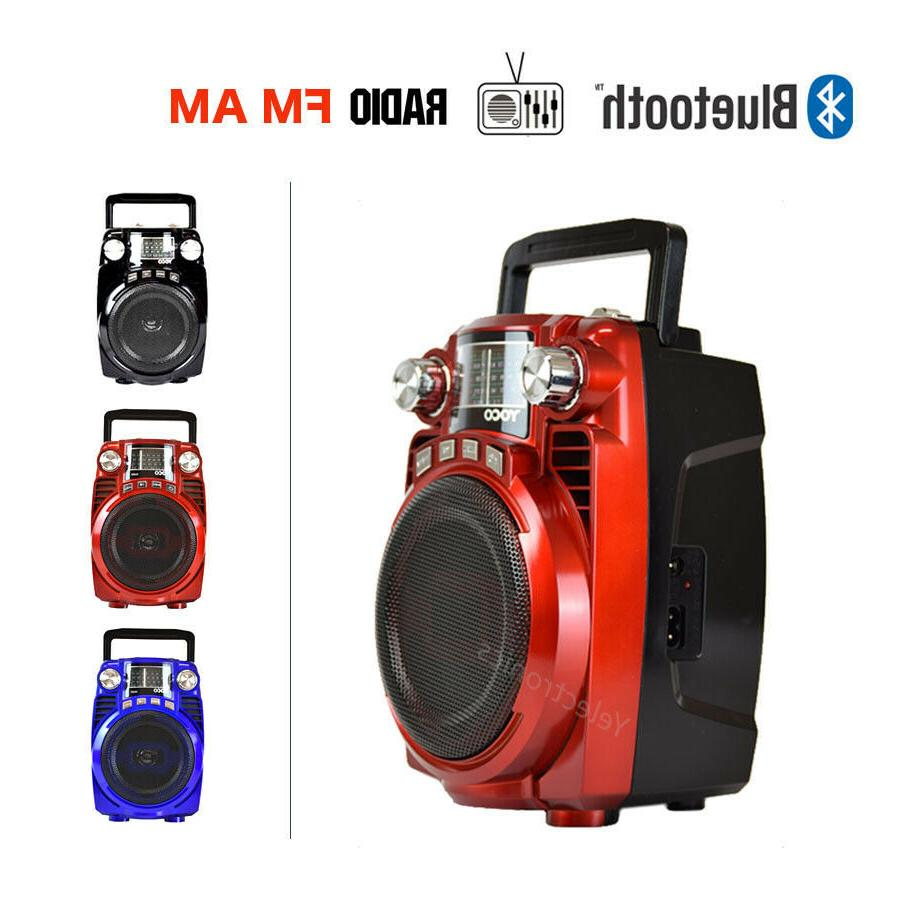 portable am fm radio bluetooth speaker wireless
