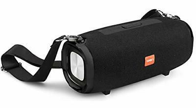 portable bluetooth speaker with carrying strap black