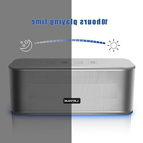 Portable Bluetooth Wireless Speakers 10-hour Playtime,33ft Range,Dual Card Insert,Aux Built-in for Iphone/Andriod/Tablet