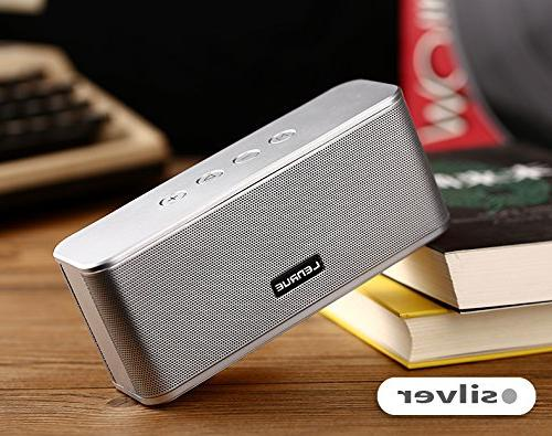 Portable Bluetooth Speakers for Playtime,33ft Range,Dual Drivers Enhanced Bass,TF Card Built-in