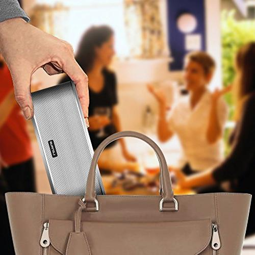 Portable Wireless Speakers 10-hour Range,Dual Drivers Card Built-in Mic Iphone/Andriod/Tablet