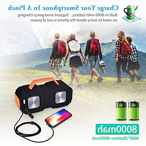 Portable Bluetooth with Ture Wireless Bass 30W Volume,IPX5 Playtime Speaker Slot Jack,Black