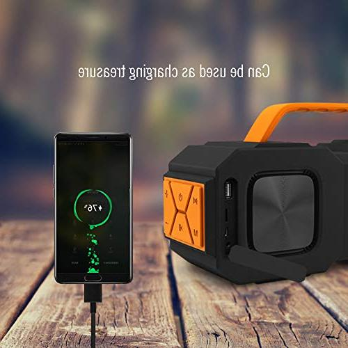 Portable Speakers with Ture Wireless Function,Ultra Bass 30W Volume,IPX5 Playtime Bluetooth Speaker with Card Slot Aux Jack,Black