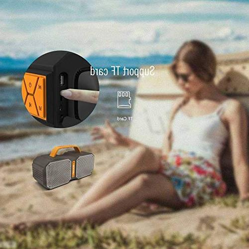 Portable Speakers with Ture Stereo Bass 30W Outdoor Speakers,Loud Volume,IPX5 Bluetooth Speaker Slot 3.5mm Jack,Black