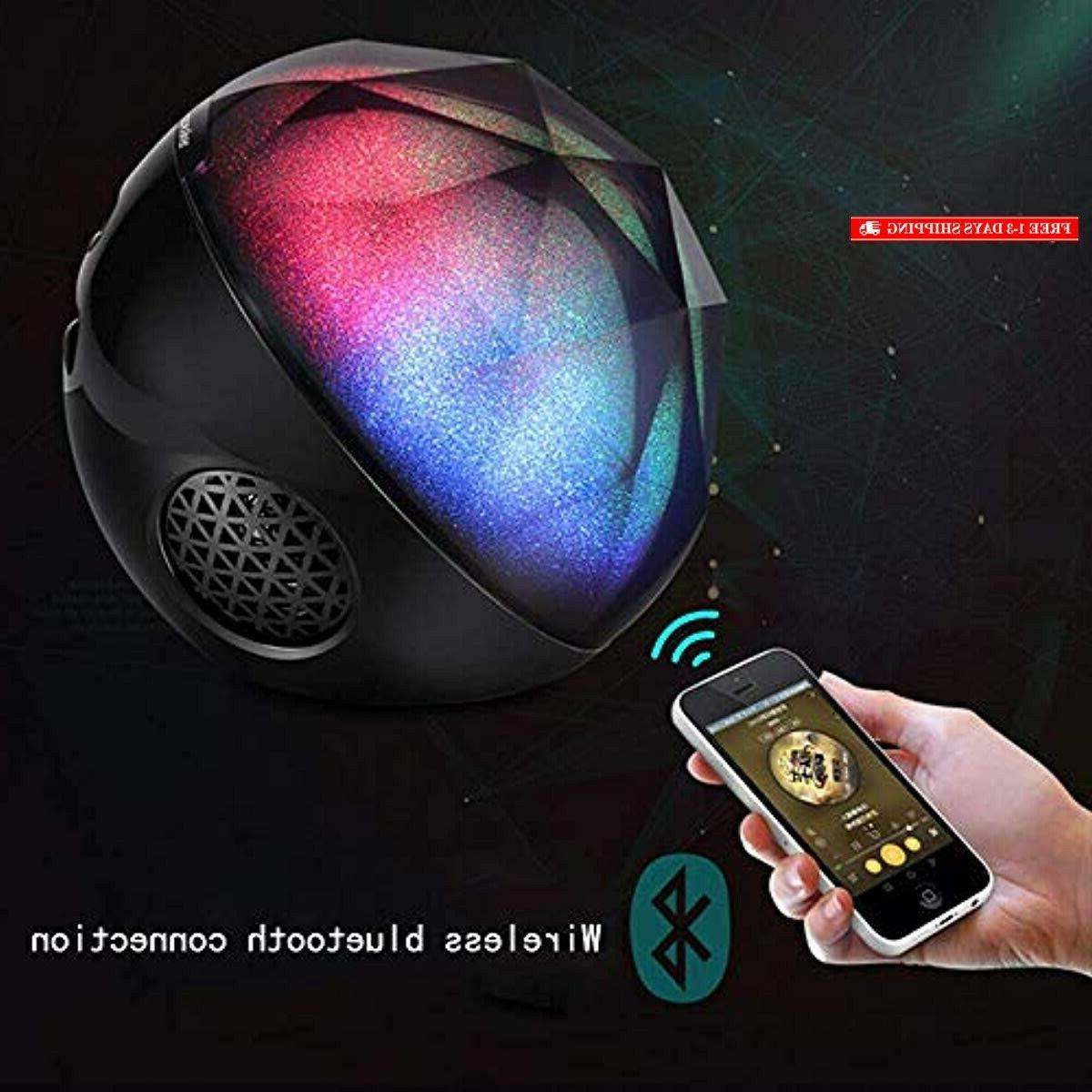 Portable Speakers, VIVI Colorful Crystal Ster