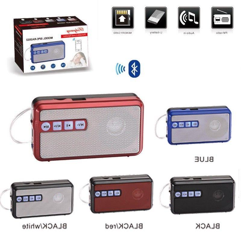 Portable Bluetooth Wireless Speaker USB FM Radio Micro SD/TF