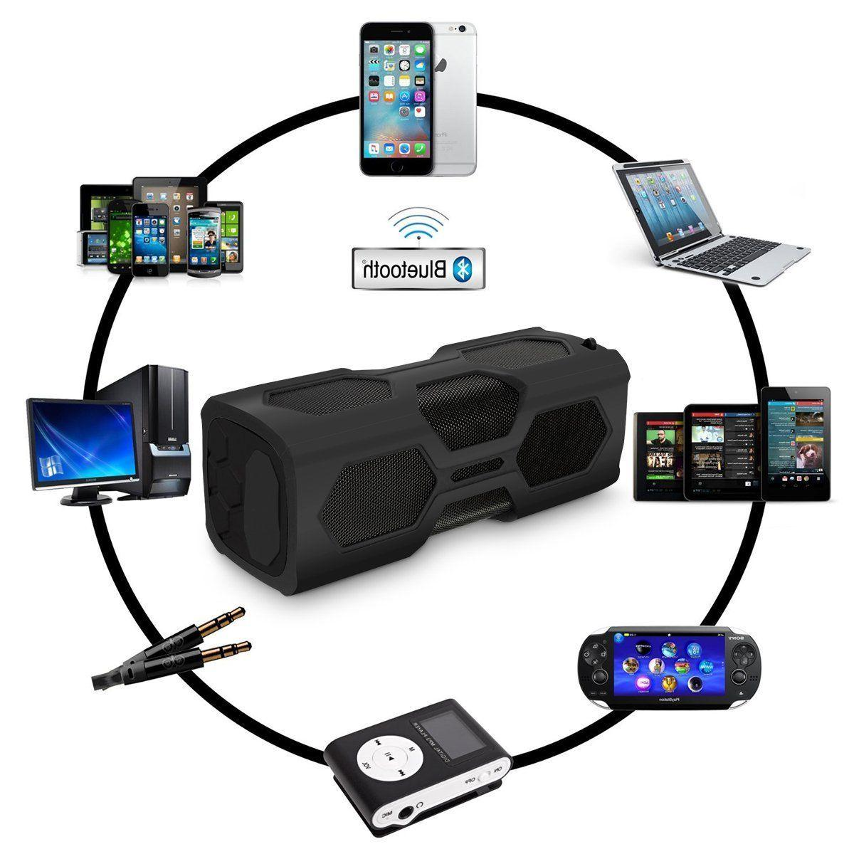 Portable Bluetooth Waterproof Power Bass Stereo
