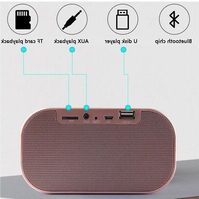 Portable Bluetooth Stereo Speaker Alarm FM LED