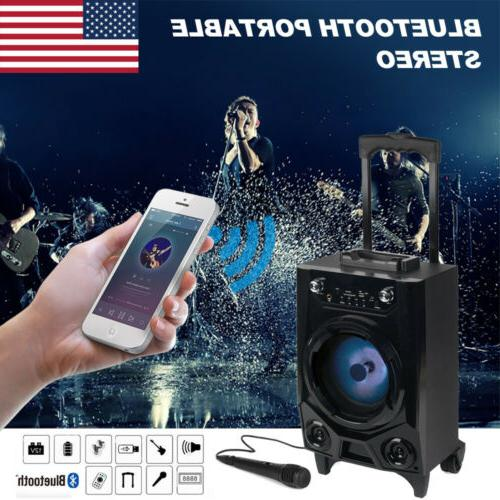 Portable BT Party DJ Tailgate LED Lights Rechargeable Wireless Bluetooth