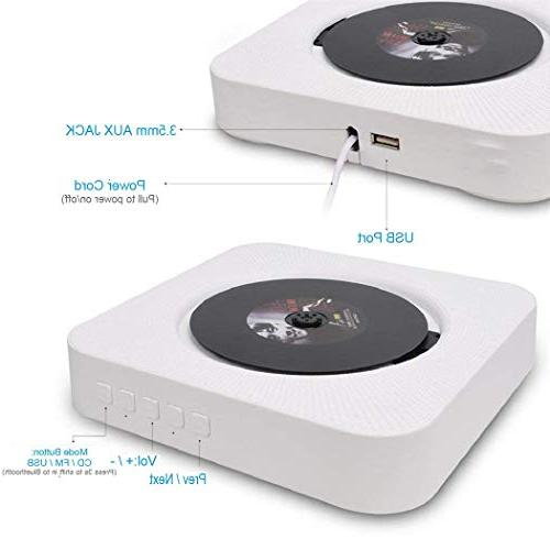 Portable CD Player with Remote Control, ESoku Bluetooth