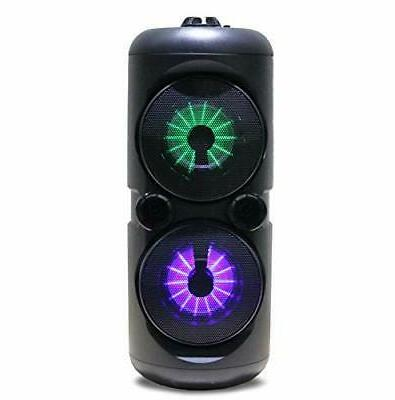 portable dual wireless party speakers with disco
