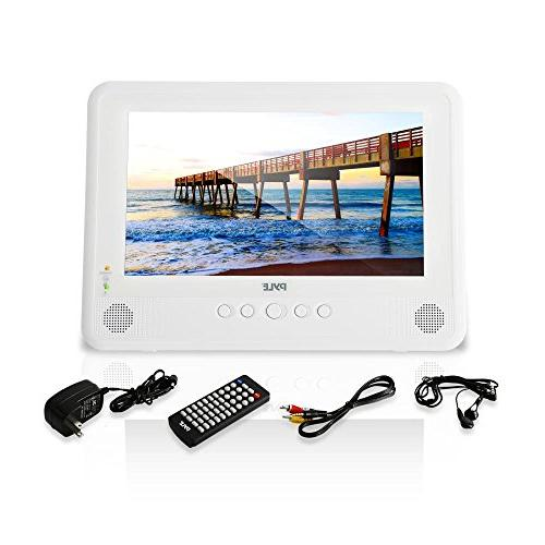 Pyle DVD Player IP67 Headrest Backseat Mobile with TFT HD Screen Headphone Jack