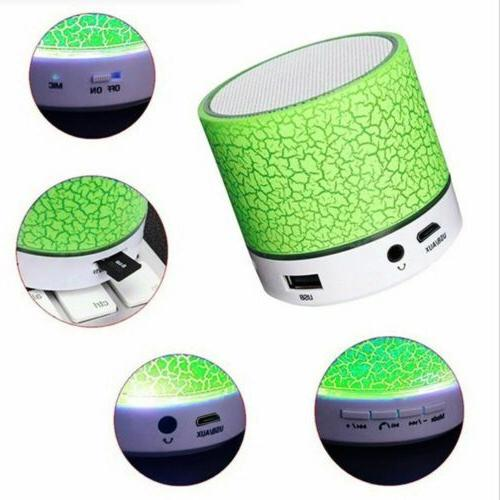 Portable Mini Bluetooth LED Wireless Bass Speaker With TF