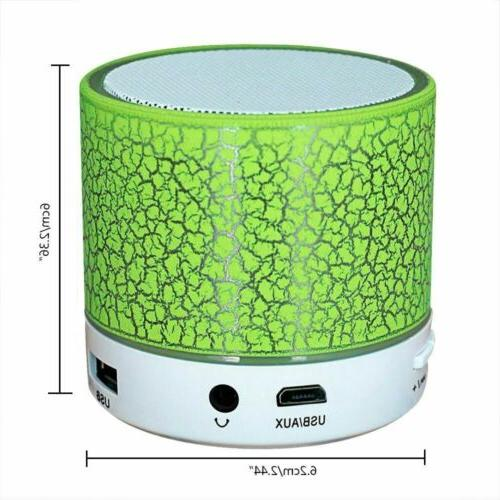 Portable Bluetooth Speaker LED Bass With Radio