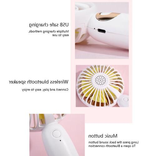 Portable Fans Bluetooth USB Rechargeable for