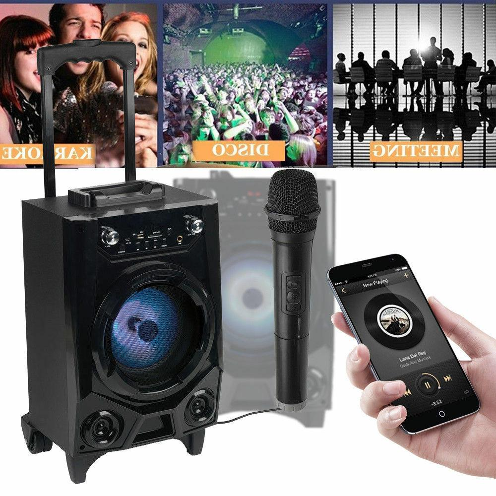 Portable Rechargeable Bluetooth Party DJ Speaker