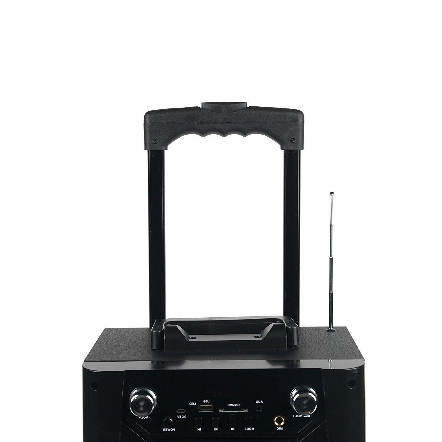 Portable Party DJ Tailgate LED Speaker With Mic