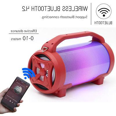 Portable Bass Loud LED Wireless Outdoor Stereo