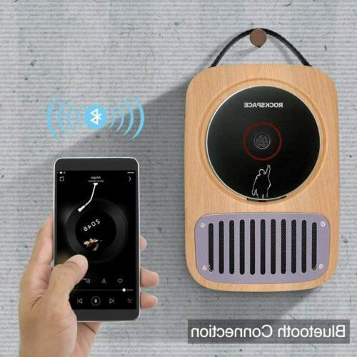 Portable Bluetooth Wall Mounted CD Player Speaker Wireless L