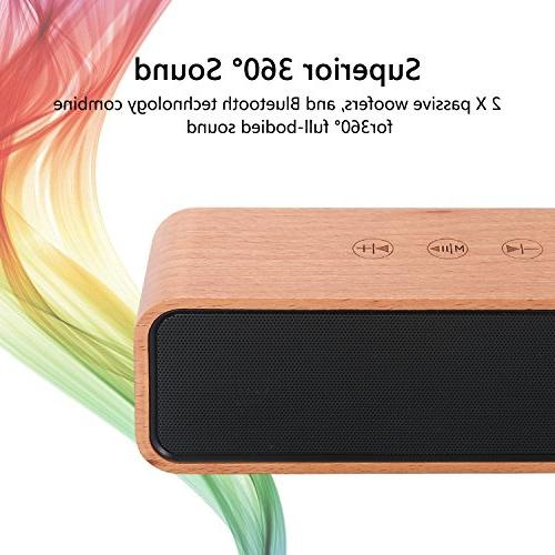 Bluetooth Retro Bamboo Wood Home with Super with