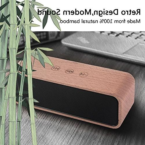 Portable Bluetooth 4.2 Wood with with