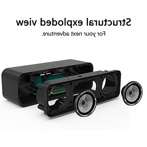 Portable Wireless Speaker,BOOMER Bluetooth 4.2 Wood Touch with Super Compatible with iPhone,Outdoor,Indoor.
