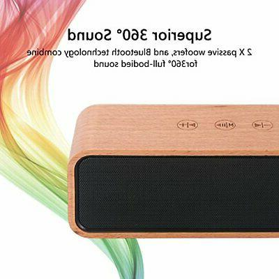 Portable Bluetooth Retro Wood Home