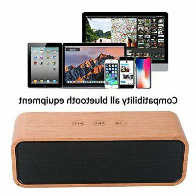 Portable Wireless Speaker,BOOMER Bluetooth Retro Wood