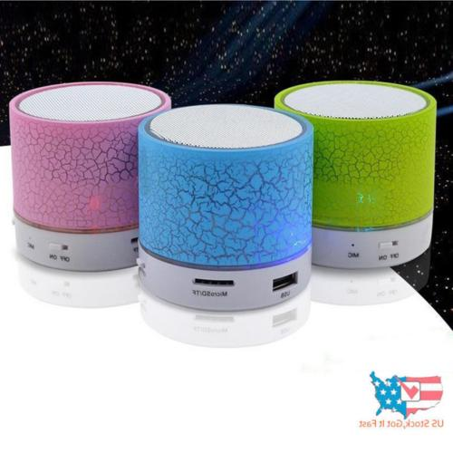 Rechargeable Light Bluetooth Speaker Portable Bass USA