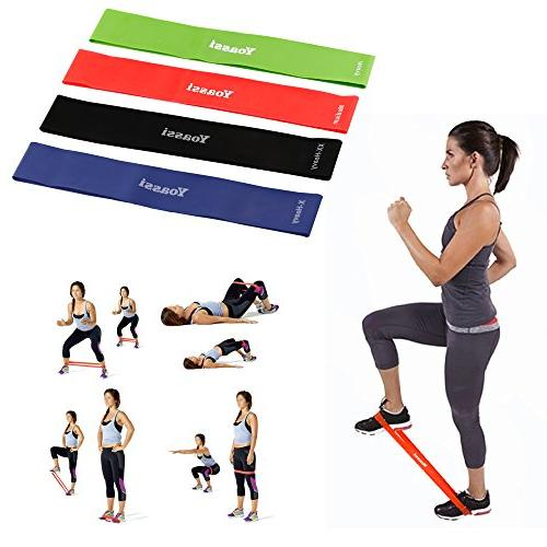 Resistance Bands Stretch Premium Workout for Legs Yoga Fitness Home Training